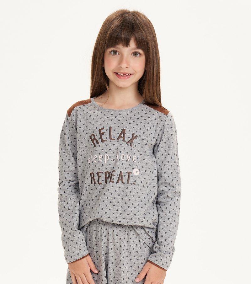 Pijama Manga Longa Infantil - 67514