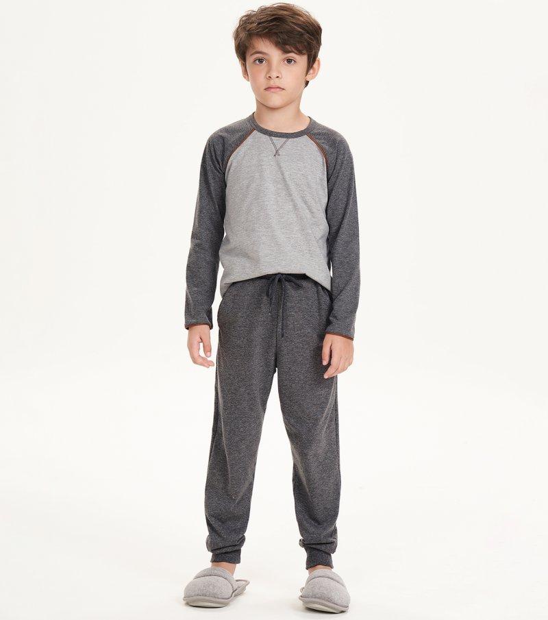 Pijama Manga Longa Infantil - 66383