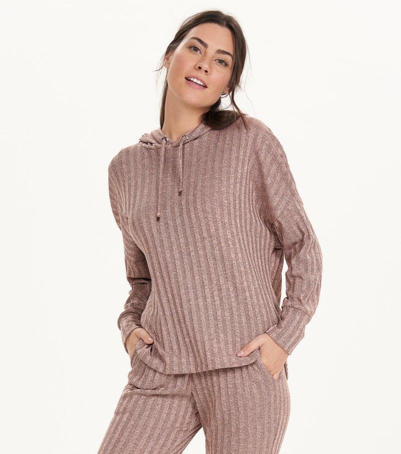 Pijama Manga Longa Com Capuz e Calça Jogger - 11166