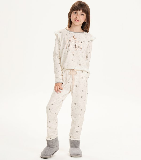 Pijama Manga Longa Infantil - 67512