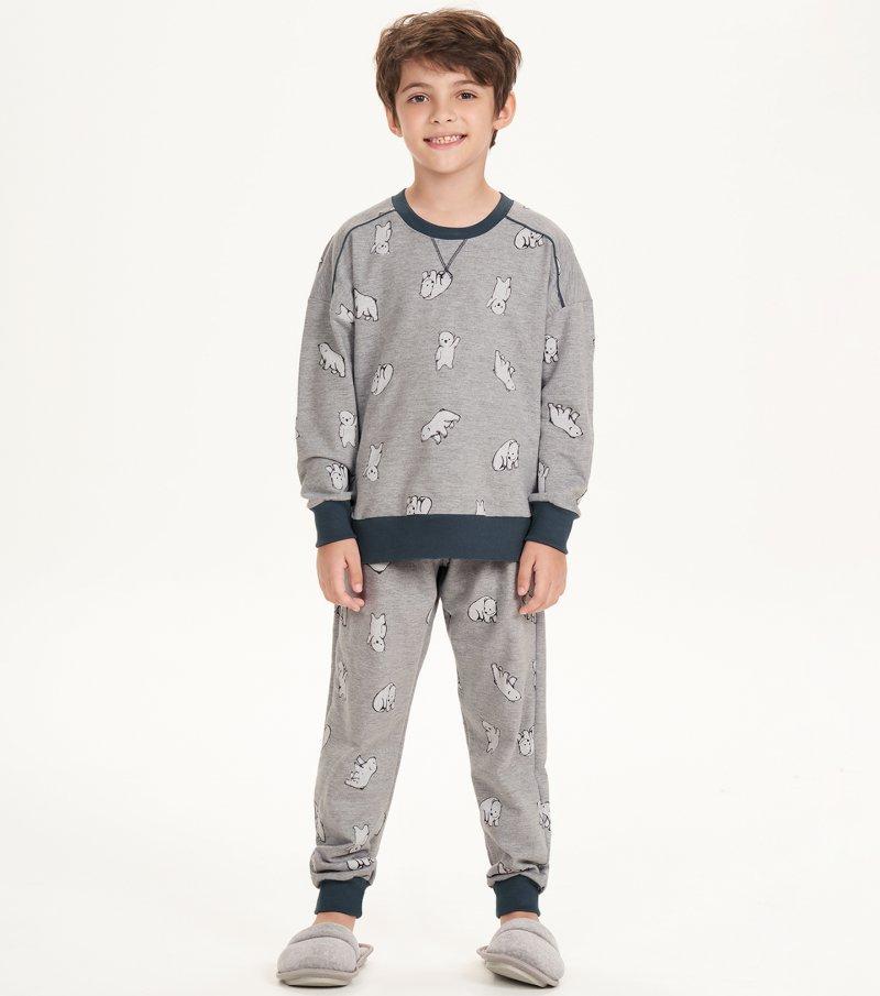 Pijama Manga Longa Infantil - 66384