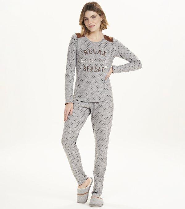 Pijama Manga Longa - 12615