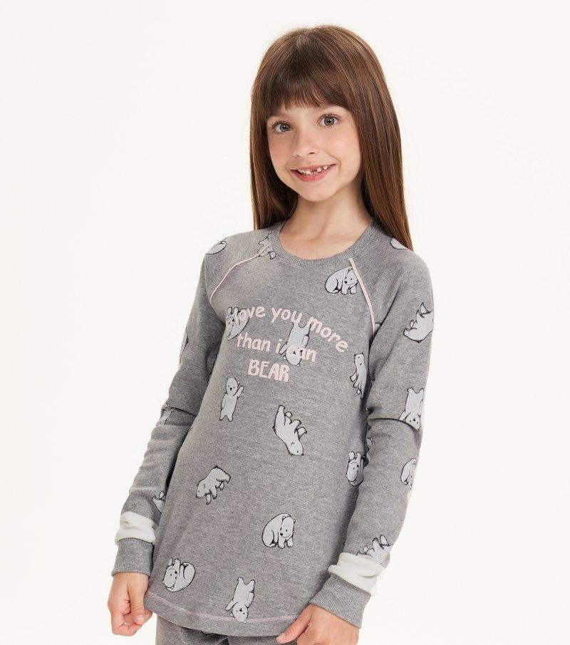 Pijama Manga Longa Com Legging Infantil - 67515