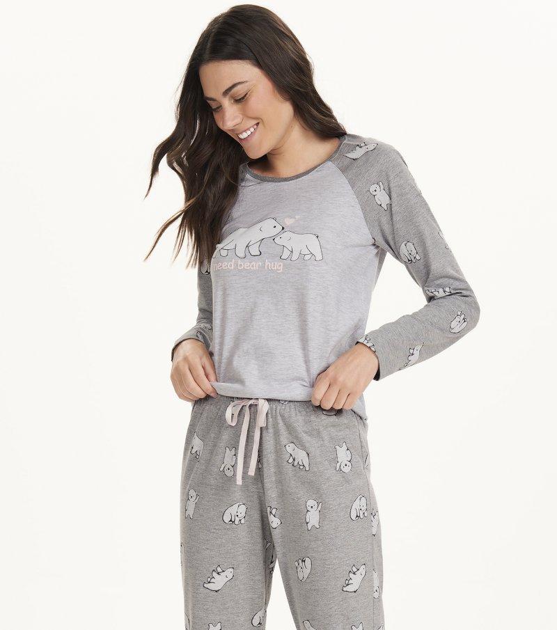 Pijama Manga Longa - 12618