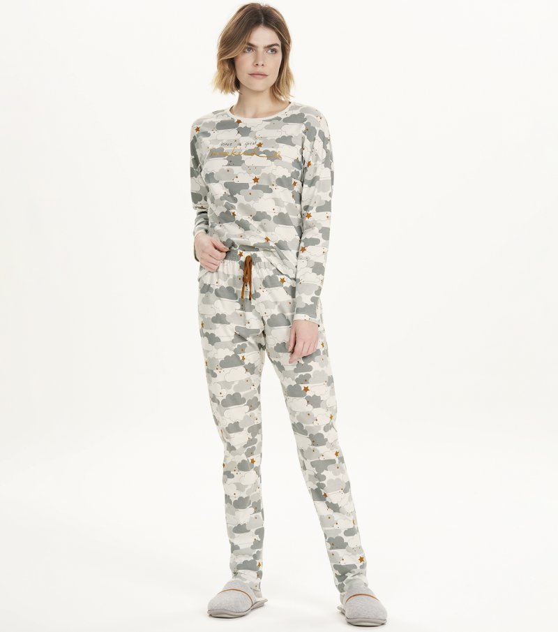 Pijama Manga Longa - 12632