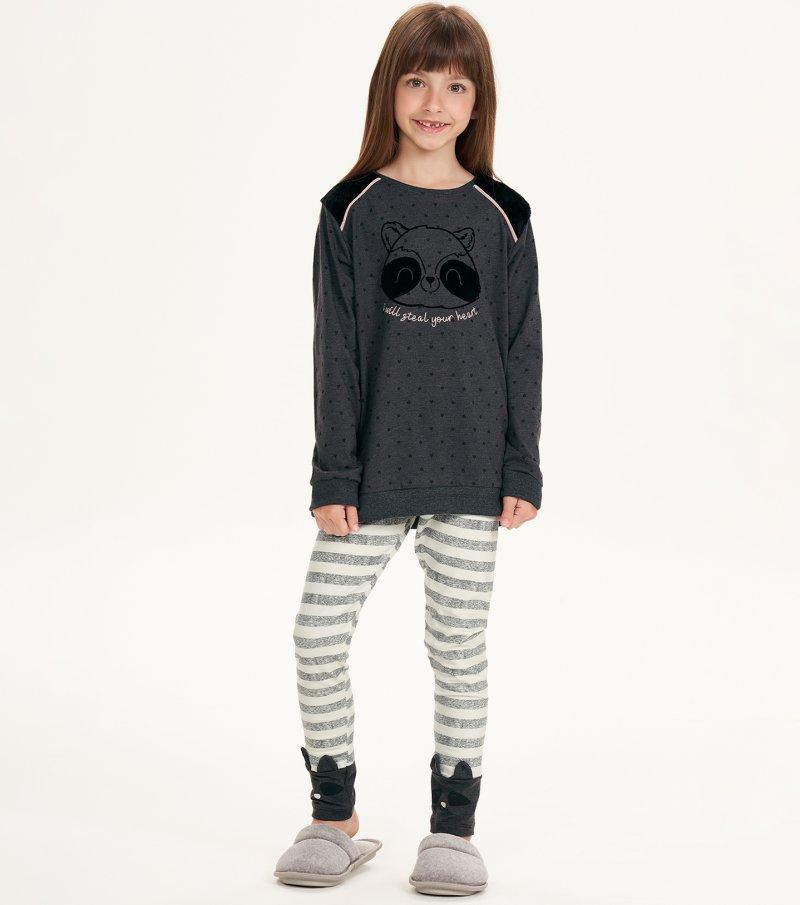 Pijama Manga Longa Com Legging Infantil - 67517