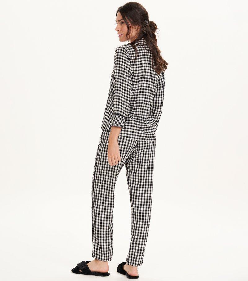 Pijama Manga Longa com Abertura - 11168