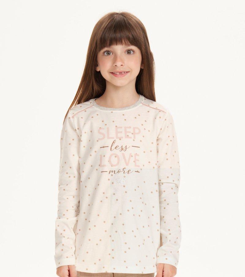 Pijama Manga Longa Com Legging Infantil - 67519