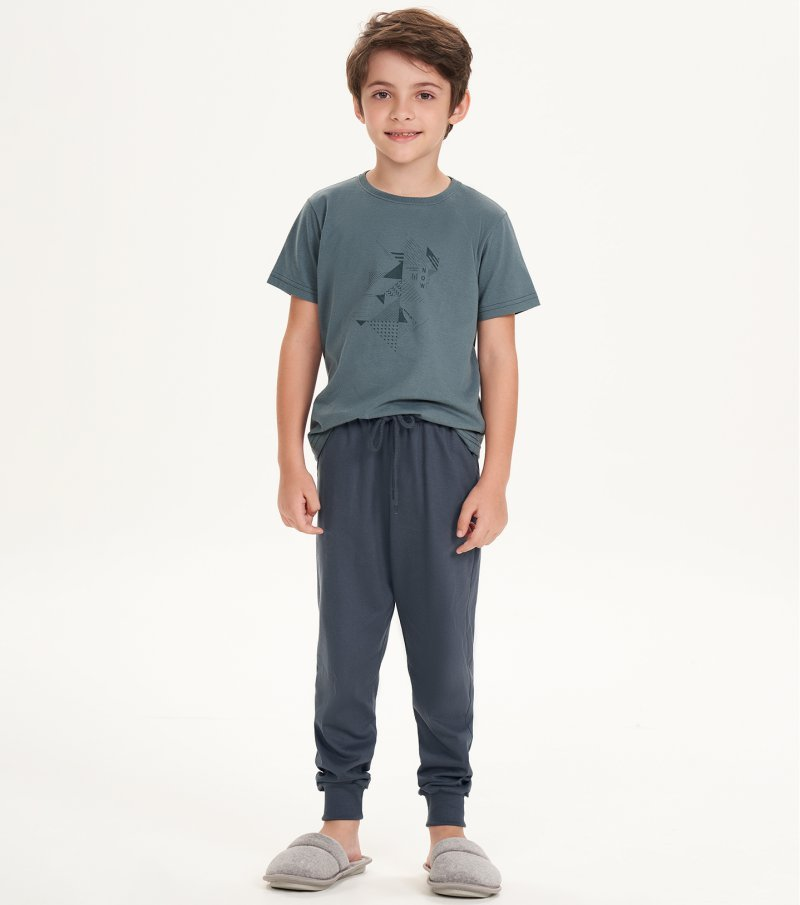 Pijama Manga Curta Infantil - 66391