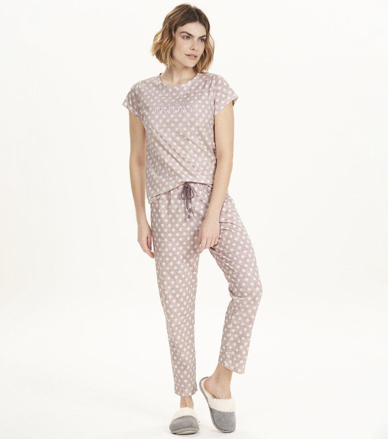 Pijama Manga Curta - 12569