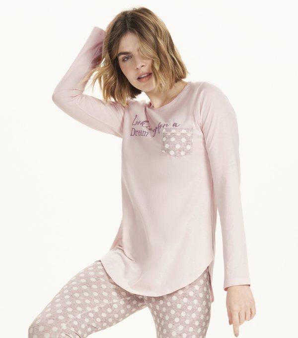 Pijama Manga Longa com Legging - 12570