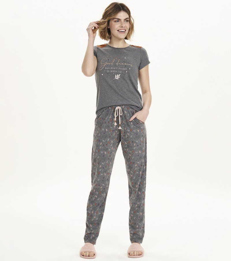 Pijama Manga Curta - 12585