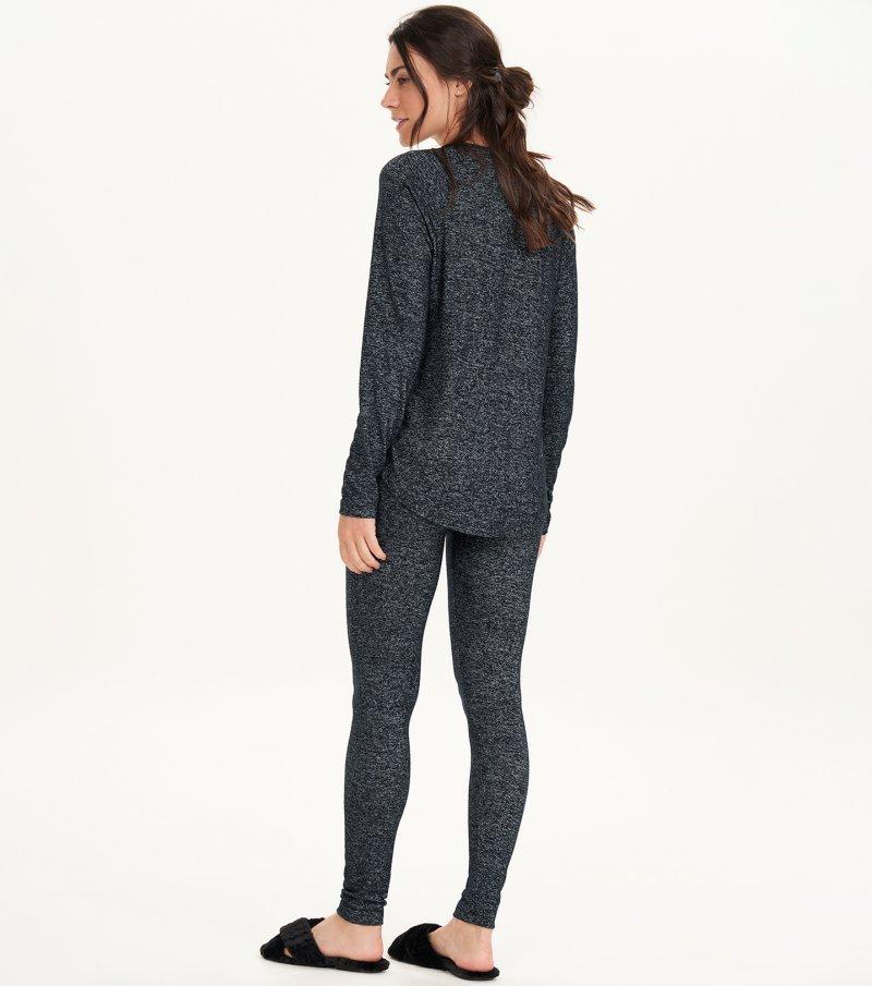 Pijama Manga Longa Com Legging - 11171