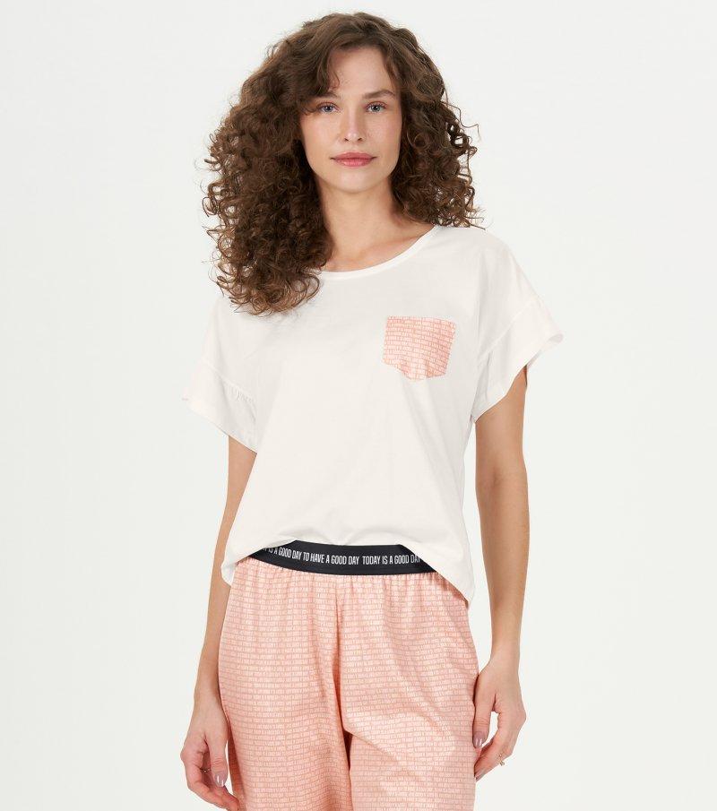 Pijama Manga Curta Com Calça - 12759