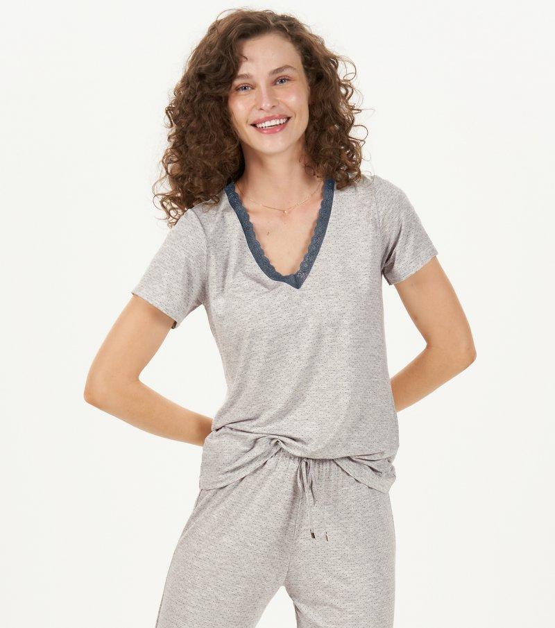 Pijama Manga Curta - 12809