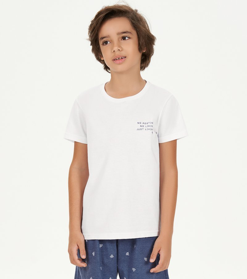 Pijama Manga Curta Infantil - 66394