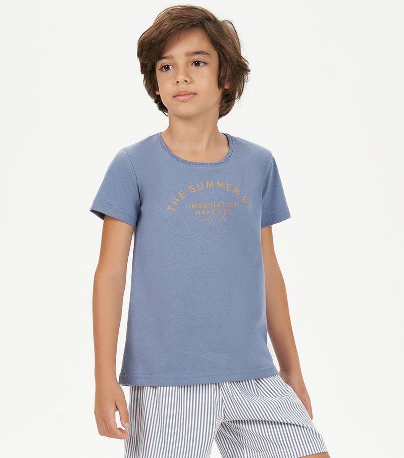 Pijama Manga Curta Infantil - 66399