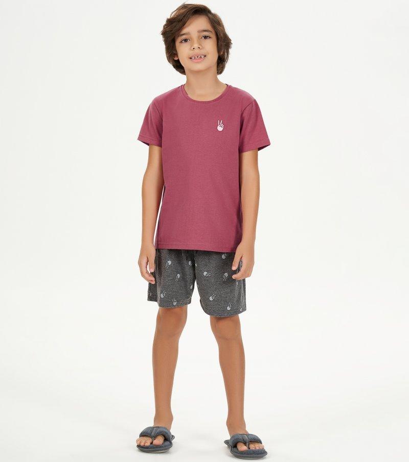 Pijama Manga Curta Infantil - 66395
