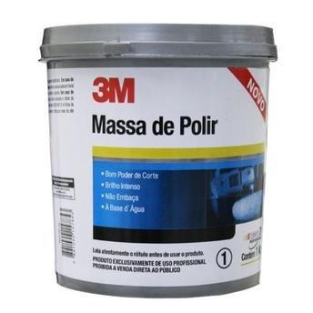 MASSA DE POLIR BASE AGUA 1KG CAIXA COM 12 UNIDADES