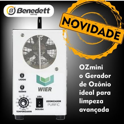 GERADOR DE OZONIO PURIFIC - OZ MINI