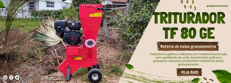 Triturador TF 80 GE de folhas e podas - Uso doméstico