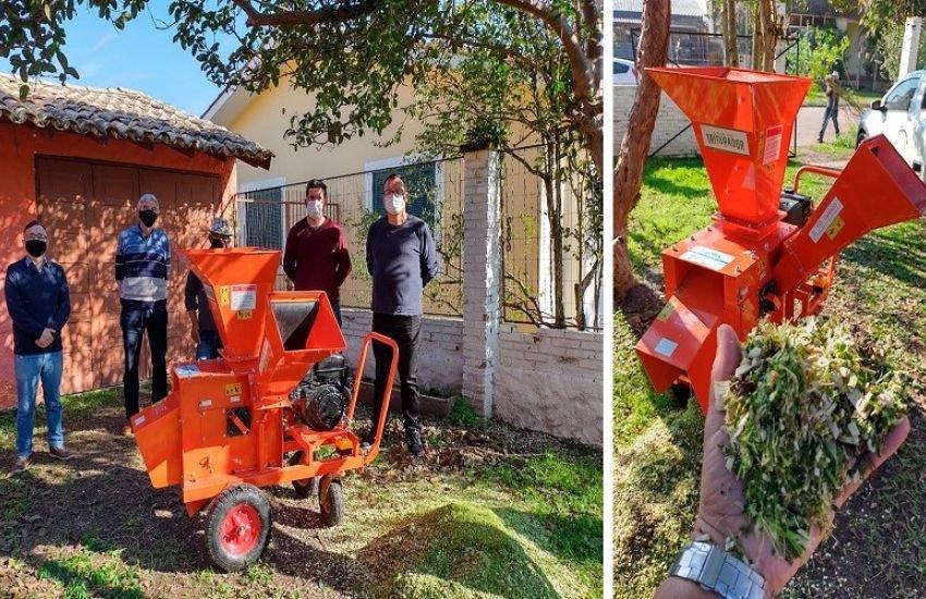 Secretaria de Agricultura e Meio Ambiente de Barra do Ribeiro realiza a aquisição de um Triturador de Galhos BIO 800