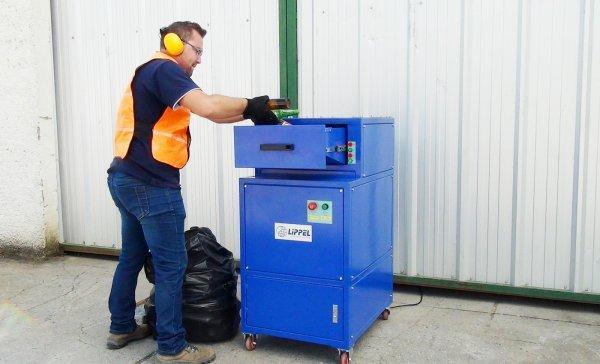 Triturador de vidro para reciclagem TVL 100