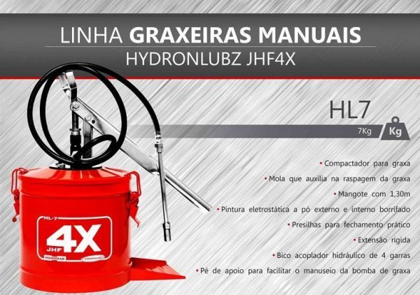 MAQUINA DE ENGRAXAR  7 KG HL-08 HYDRONLUBZ