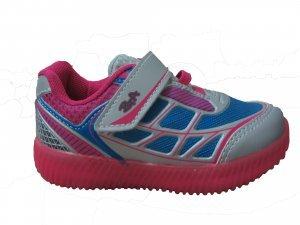 a2eba3e6ba Tênis Infantil Menina 160-67 Batatinha - Prata Pink