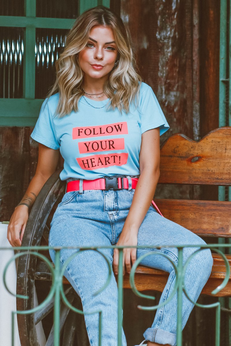T-SHIRT SLIM FOLLOW YOUR HEART