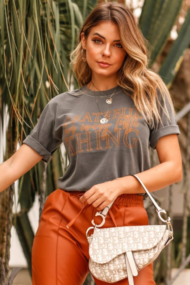 T-SHIRT SLIM GRATEFUL FOR EVERY LITTLE THING