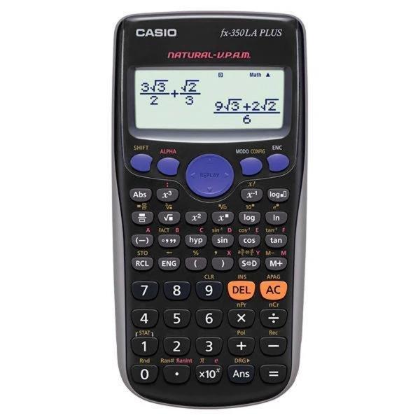 Calculadora Científica Casio fx-350LA PLUS com 252 Funções