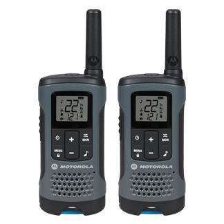 Walkie Talkie Motorola T200MC 20 Milhas (32KM) Com Bateria recarregável