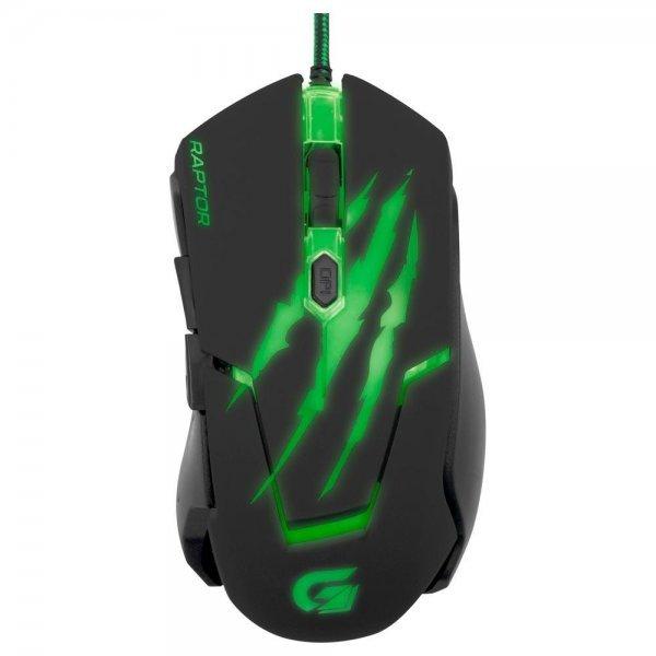Mouse Gamer Fortrek Raptor Series USB 6 Botões 3200DPI OM801