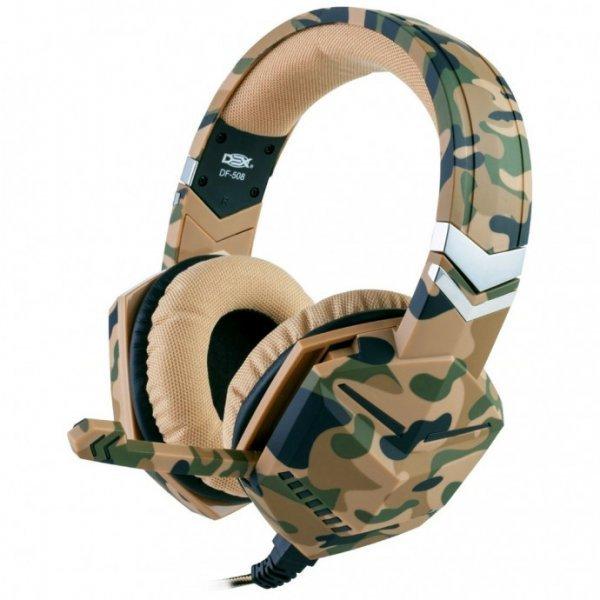 Headset CAMUFLADO DEX DF-508 (Compatível com PS4 / XBOX ONE / CELULAR) P2 3,5MM