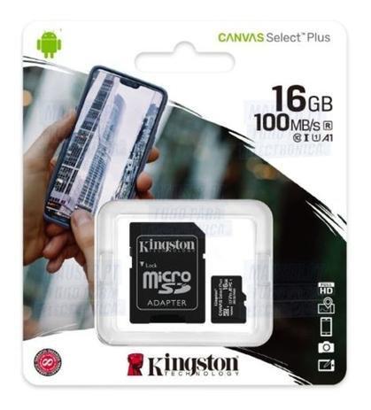Cartão de memória Micro SDHC 16GB Canvas  Plus SDCS2/16GB - Kingston