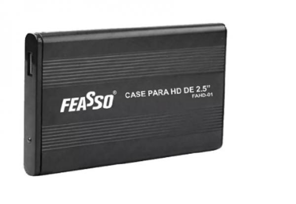 Case para HD 2.5 USB 2.0 FEASSO FAHD-01 PRETO