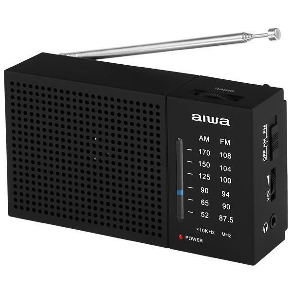 Rádio AM/FM Portátil  Aiwa AW LR234AM-FM a Pilha - Preto