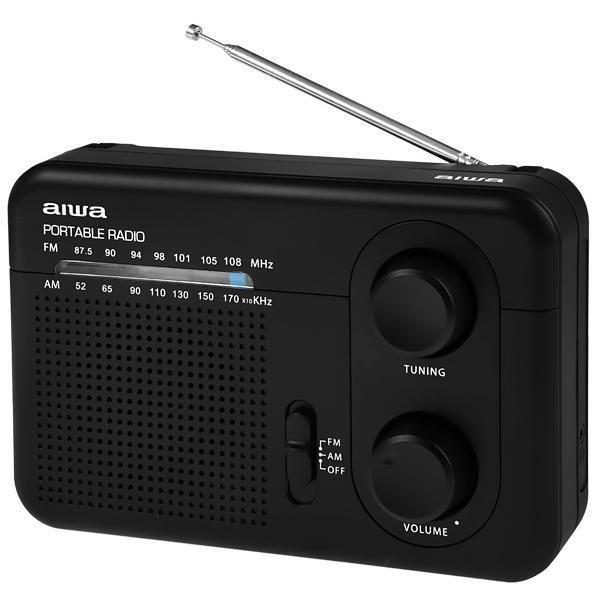 Rádio AM/FM  Portátil Aiwa AW LR411AM-FM Bivolt - Preto