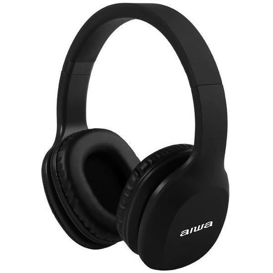 Fone de Ouvido Sem Fio Aiwa Aw A61BT com Bluetooth e Microfone - Preto