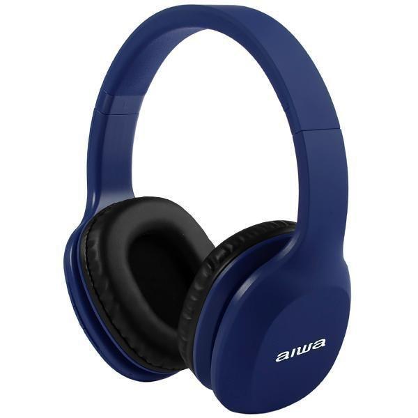 Fone de Ouvido Sem Fio Aiwa Aw A61BT com Bluetooth e Microfone - Azul