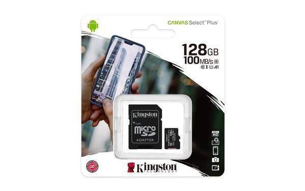 Cartão de Memória Kingston Canvas  Plus MicroSD 128GB Classe 10  - SDCS2/128GB