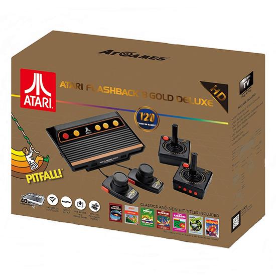 Console Atari Flashback 8 Gold Deluxe com 120 Jogos