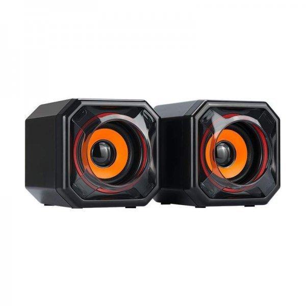 Speaker Quanta Multimídia 5W x 2 Quadrado QTSMQ15 Laranja