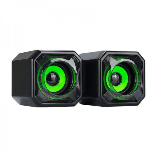 Speaker Quanta Multimídia 5W x 2 Quadrado QTSMQ15 Verde