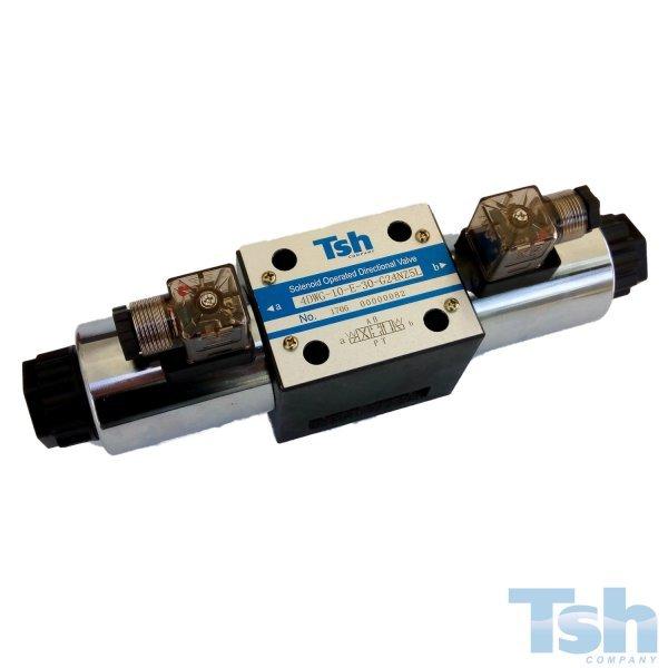 Válvula Direcional Modular 4/3 Vias TN10 24V 120L/min 315bar