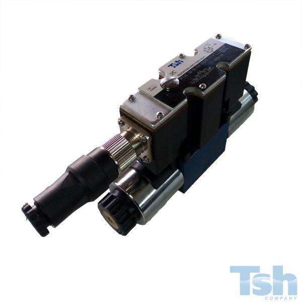 Válvula Proporcional 4/3 Vias TN6 24V 7L/min 4~20mA 350bar
