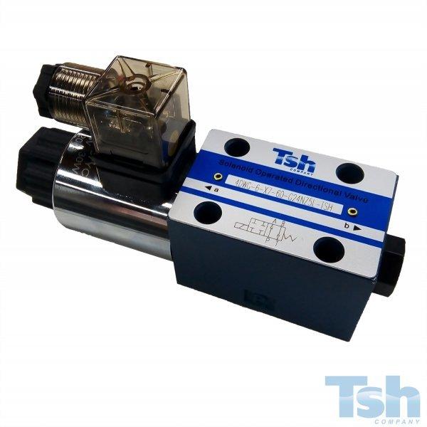 Válvula Direcional Modular 4/2 Vias TN6 24V 60L/min 315bar