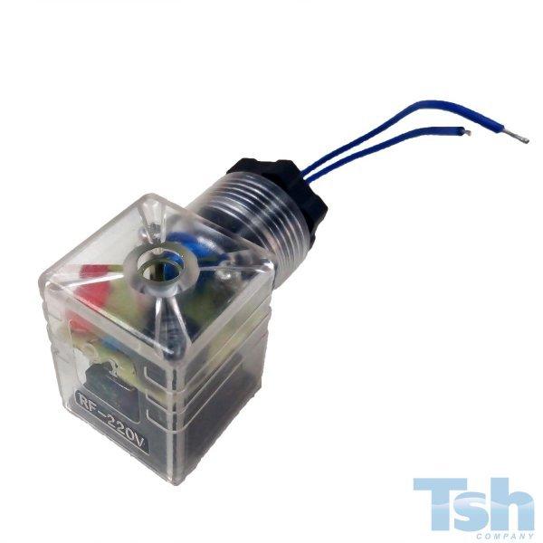Conector Grande Plug DIN com Retificador 24VCC/220VCA 2P LED