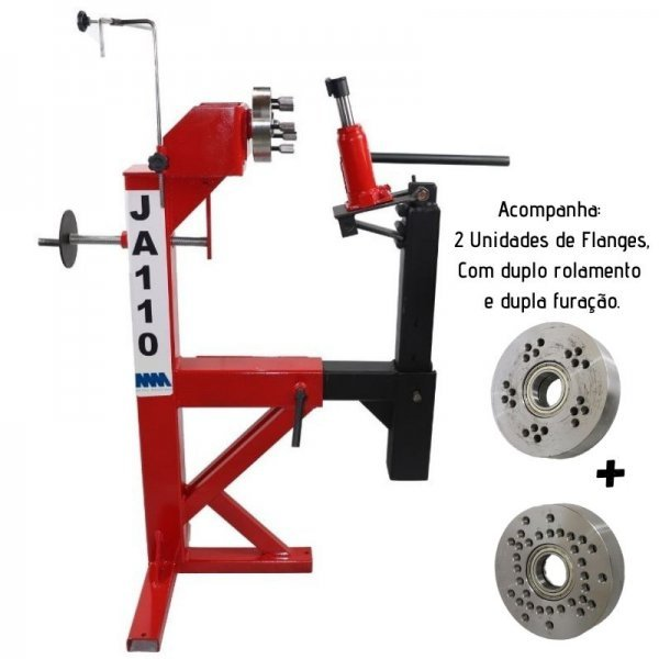 Máquina de desempenar rodas - Com 2 Flanges
